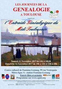 Journées Généalogie Toulouse