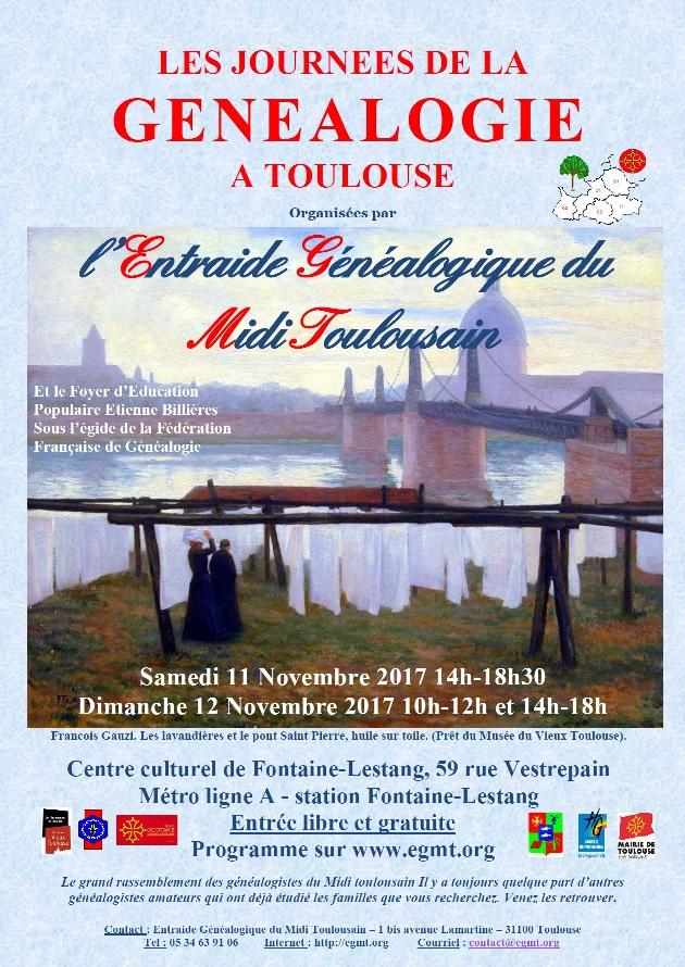 Journées de la Généalogie à Toulouse